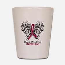 Brain Aneurysm Awareness Shot Glass