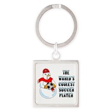 World's Coolest Soccer Player Square Keychain