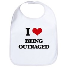 I Love Being Outraged Bib