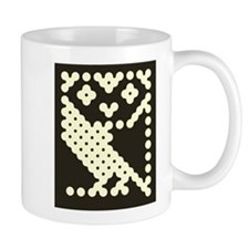 BBC Micro Owl with Background Mugs