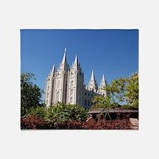 Salt Lake Temple, Plaza View Throw Blanket