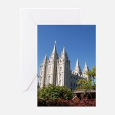 Salt Lake Temple, Plaza View Greeting Cards