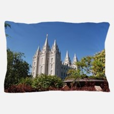 Salt Lake Temple, Plaza View Pillow Case