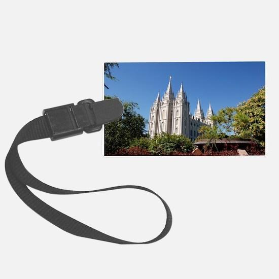 Salt Lake Temple, Plaza View Luggage Tag