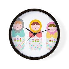 Babushka Dolls Wall Clock