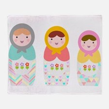 Babushka Dolls Throw Blanket
