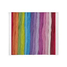 Thread Colors Throw Blanket