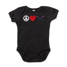 lacross13black.png Baby Bodysuit