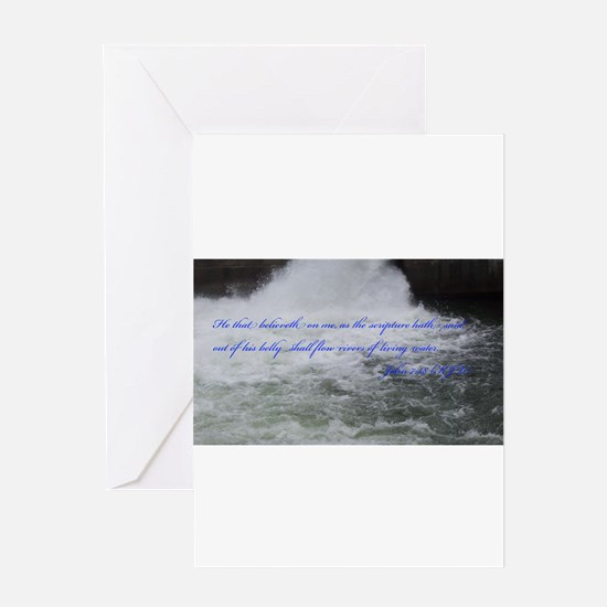 Rivers of Living Water Greeting Cards