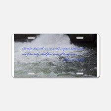 Rivers of Living Water Aluminum License Plate