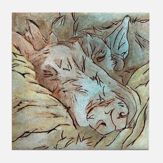 Let Sleeping Dogs Lie Tile Coaster