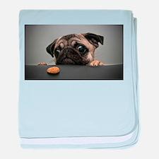 Cute Pug baby blanket