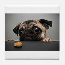 Cute Pug Tile Coaster