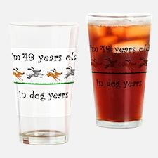 7 dog birthday 1 Drinking Glass