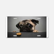 Cute Pug Aluminum License Plate