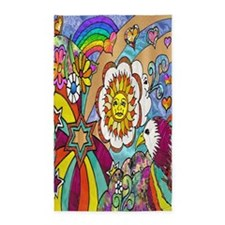 Psychedelic Sunshine Art Area Rug