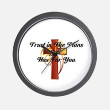 Trust In The Plans Of God Wall Clock