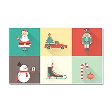 Retro Christmas Car Magnet 20 x 12