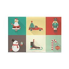 Retro Christmas Magnets