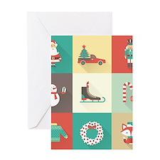 Retro Christmas Greeting Cards