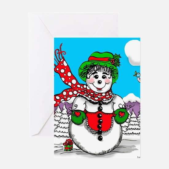 SnowLady Greeting Cards