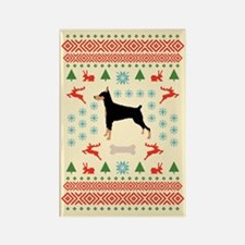Christmas Dobe Rectangle Magnet