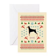 Christmas Dobe Greeting Card