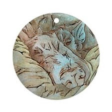Let Sleeping Dogs Lie Ornament (Round)