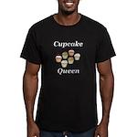 Cupcake Queen Men's Fitted T-Shirt (dark)