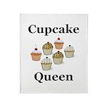 Cupcake Queen Throw Blanket