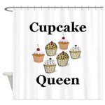Cupcake Queen Shower Curtain