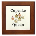 Cupcake Queen Framed Tile
