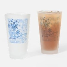 Blue Snowflake Drinking Glass