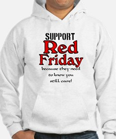 Red Friday Support Hoodie