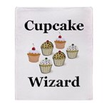 Cupcake Wizard Throw Blanket