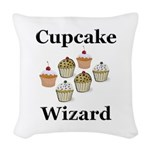 Cupcake Wizard Woven Throw Pillow