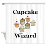 Cupcake Wizard Shower Curtain