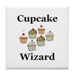 Cupcake Wizard Tile Coaster