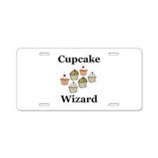 Cupcake Wizard Aluminum License Plate