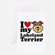 I Love My Lakeland Greeting Cards