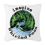 Imagine Whirled Peas Woven Throw Pillow
