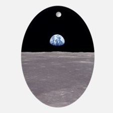 Earthrise Apollo 11 Christmas Tree Oval Ornament