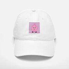 Pink Teal Striped Pig Baseball Baseball Baseball Cap