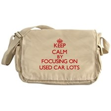 Keep Calm by focusing on Used Car Lo Messenger Bag
