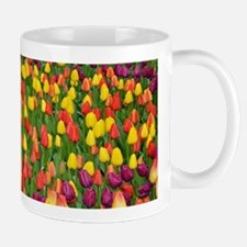 Colorful spring tulips garden Mugs