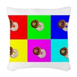 warholebagels.png Woven Throw Pillow