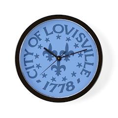 Louisville clock (blue)