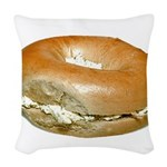 bagelandcreamcheese Woven Throw Pillow