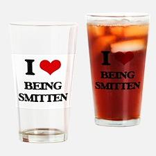 I love Being Smitten Drinking Glass