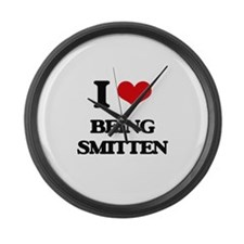I love Being Smitten Large Wall Clock